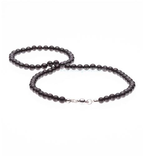 Schungit-Perlenkette 6 mm x 75 Perlen-0