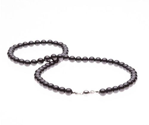 Schungit-Halskette 55 cm-0