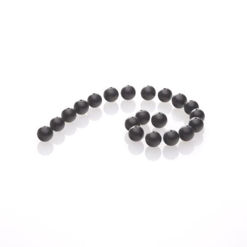 Schungit-Perlen, gebohrt und poliert 10-er Pack-0
