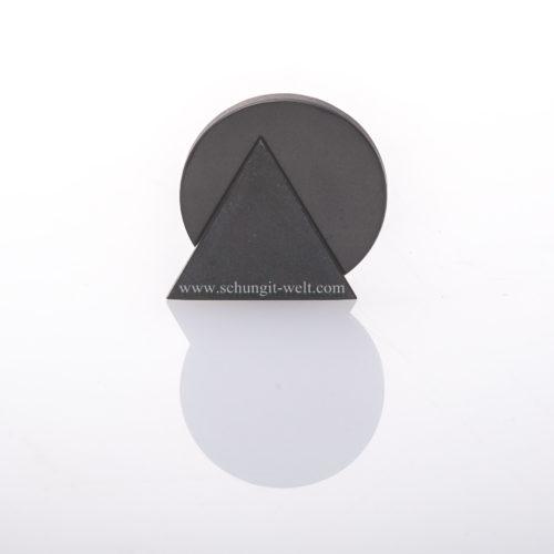 Schungit-Scheibe und Dreieck aus Talkchlorid-0