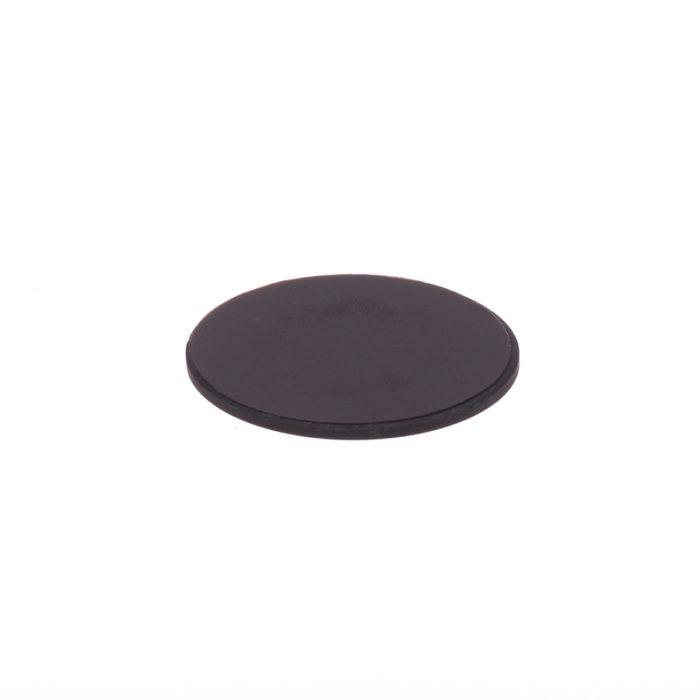 Schungit-Scheibe für Laptop 5cm poliert, selbstklebend-626