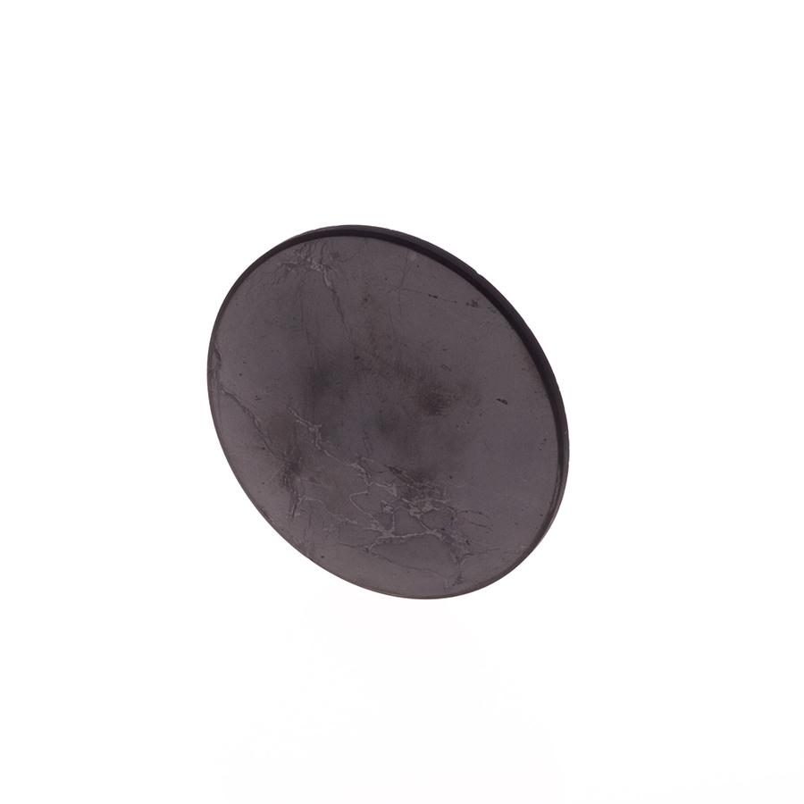 Schungit-Scheibe für Laptop 5cm poliert, selbstklebend-627